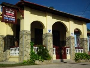 Aussenansicht der Casa particular in Casilda nähe Trinidad